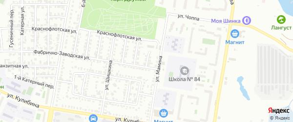 Фабрично-заводской 1-й переулок на карте Челябинска с номерами домов