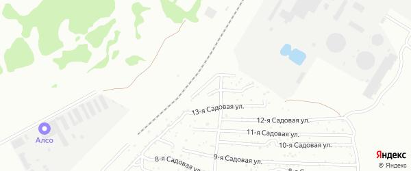 Хлебосад Садовая 15-я улица на карте Челябинска с номерами домов
