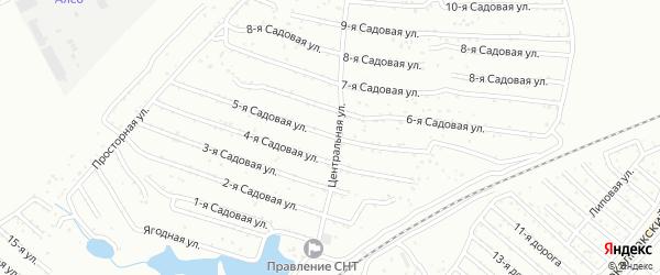 Хлебосад Садовая 5-я улица на карте Челябинска с номерами домов