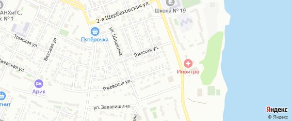 Бытовой 4-й переулок на карте Челябинска с номерами домов