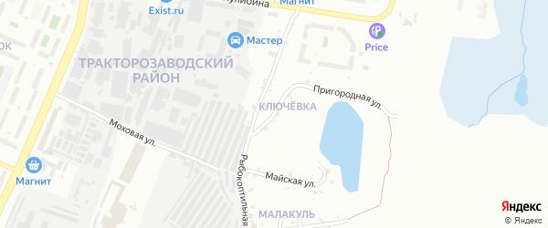 Рыбокоптильный 1-й переулок на карте Челябинска с номерами домов