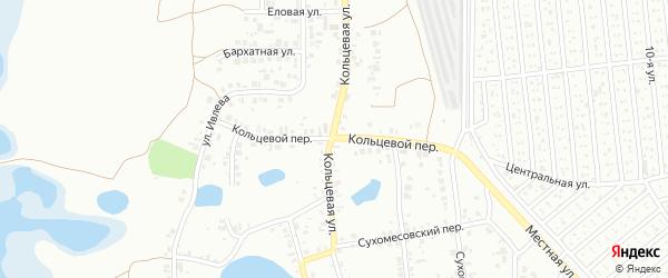 Кольцевой переулок на карте Челябинска с номерами домов