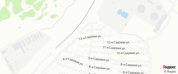 Хлебосад Садовая 13-я улица на карте Челябинска с номерами домов