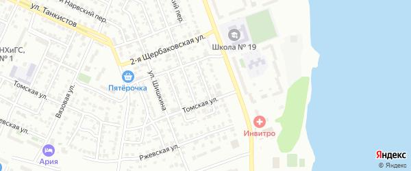 Загорский 3-й переулок на карте Челябинска с номерами домов