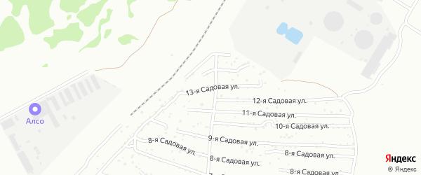 Сад СНТ Авиатор-2 улица 13 на карте Челябинска с номерами домов