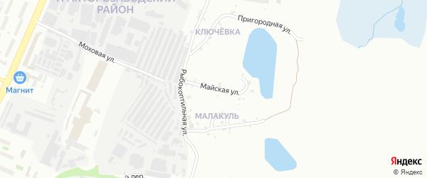 Майская улица на карте Челябинска с номерами домов