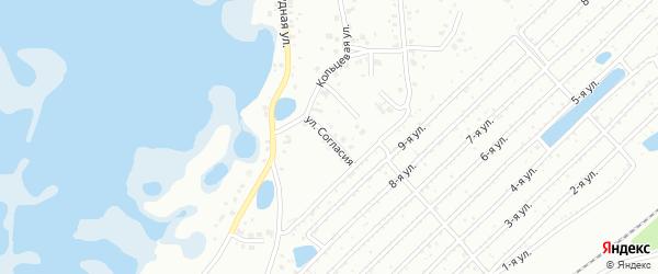 Улица Согласия на карте Челябинска с номерами домов