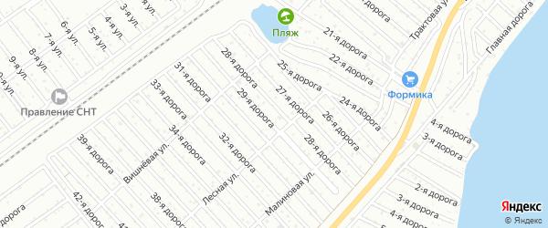 Территория ГСК Дружба на карте Челябинска с номерами домов