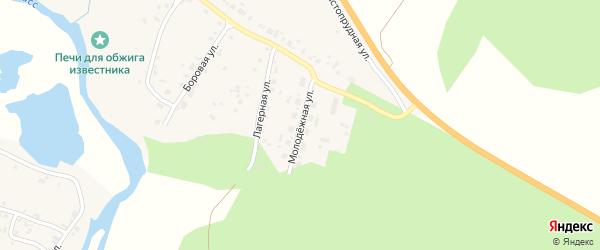 Молодежная улица на карте села Большое Баландино с номерами домов