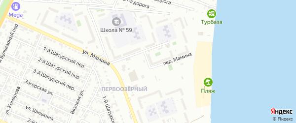 Переулок Мамина на карте Челябинска с номерами домов