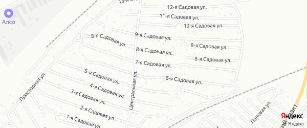 Хлебосад Садовая 10-я улица на карте Челябинска с номерами домов