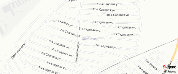 Хлебосад Садовая 12-я улица на карте Челябинска с номерами домов