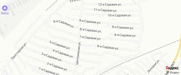 Хлебосад Садовая 11-я улица на карте Челябинска с номерами домов