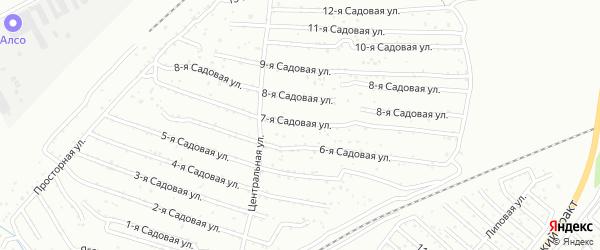 Хлебосад Садовая 7-я улица на карте Челябинска с номерами домов