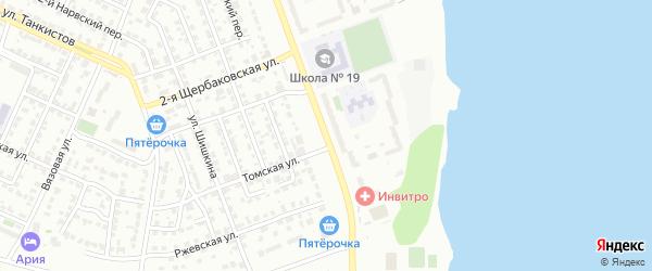 Улица Мамина на карте Челябинска с номерами домов