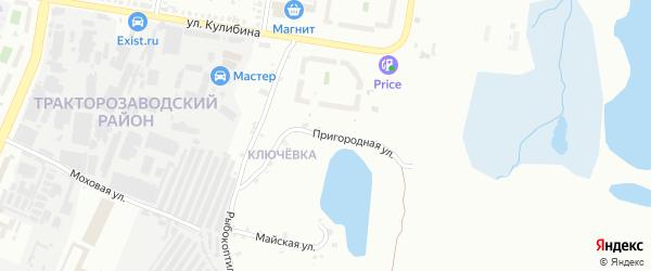 Пригородная улица на карте Челябинска с номерами домов