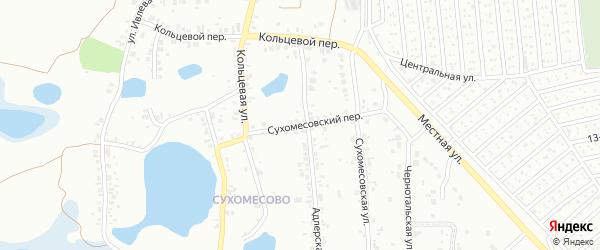 Сухомесовский переулок на карте Челябинска с номерами домов