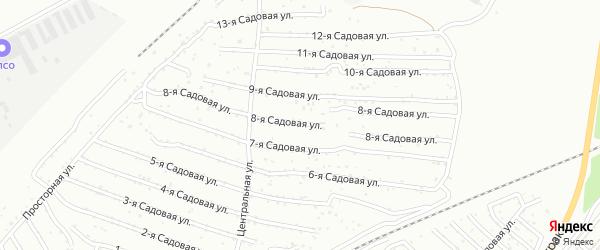 Хлебосад Садовая 8-я улица на карте Челябинска с номерами домов