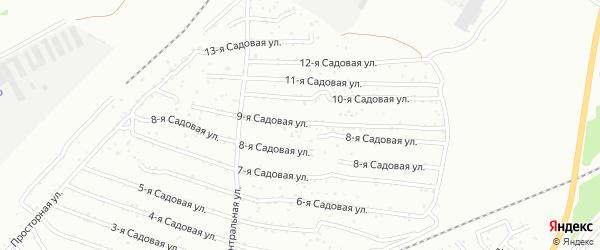 Хлебосад Садовая 9-я улица на карте Челябинска с номерами домов