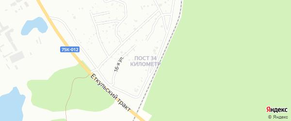 Улица Пост 34-й километр на карте Копейска с номерами домов