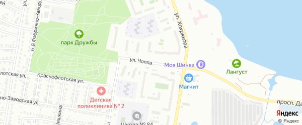 Улица Чоппа на карте Челябинска с номерами домов