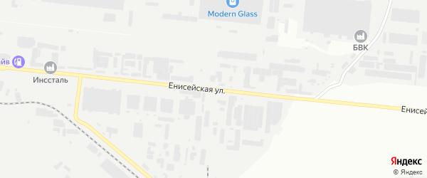 Енисейская улица на карте Челябинска с номерами домов