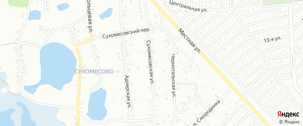 Сухомесовская улица на карте Челябинска с номерами домов