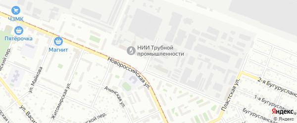 Бугурусланский переулок на карте Челябинска с номерами домов
