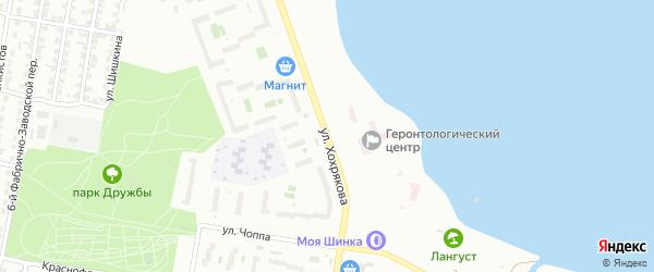 Улица Хохрякова на карте Челябинска с номерами домов