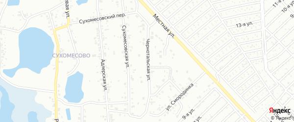 Чернотальская улица на карте Челябинска с номерами домов