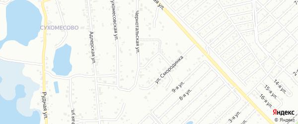 Пшеничная улица на карте Челябинска с номерами домов