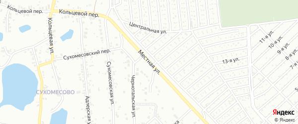 Улица Местная (Сухомесово) на карте Челябинска с номерами домов