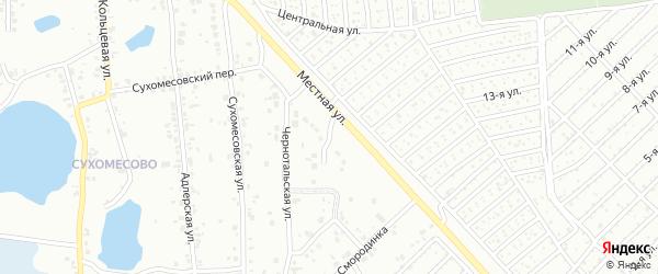 Мятный переулок на карте Челябинска с номерами домов