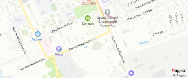 Чистопольская улица на карте Челябинска с номерами домов