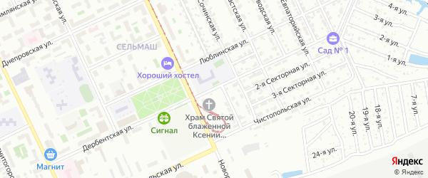 Дербентская улица на карте Челябинска с номерами домов