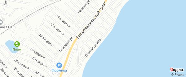 Территория ГСК Учитель на карте Челябинска с номерами домов
