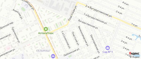 Волынский переулок на карте Челябинска с номерами домов
