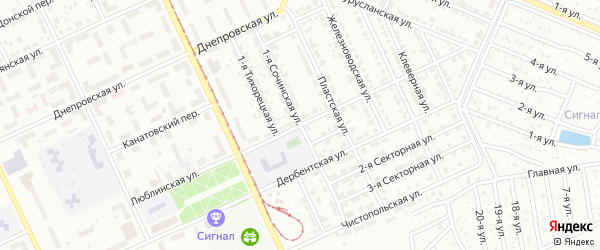 Люблинская улица на карте Челябинска с номерами домов