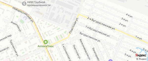 Бугурусланская улица на карте Челябинска с номерами домов
