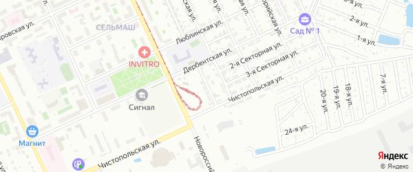 Тихорецкая 2-я улица на карте Челябинска с номерами домов