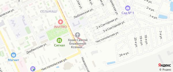 Тихорецкая улица на карте Челябинска с номерами домов