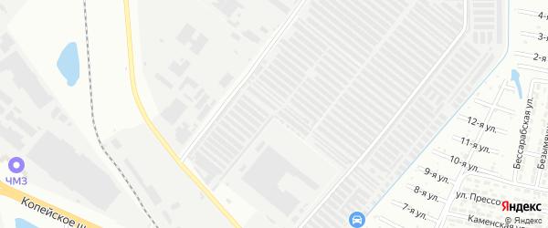 Территория ГСК 13 участок 8 на карте Челябинска с номерами домов