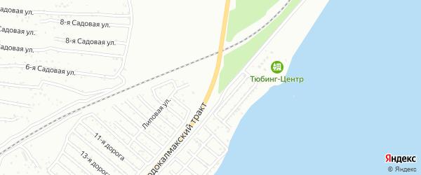 Бродокалмакский тракт на карте Челябинска с номерами домов