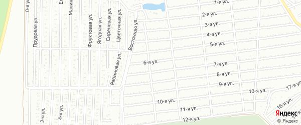 Сад Любитель-1 улица 6 на карте Челябинска с номерами домов