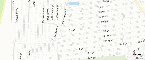 Сад СНТ Авиатор-2 улица 6 на карте Челябинска с номерами домов