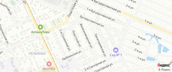 Железноводская улица на карте Челябинска с номерами домов