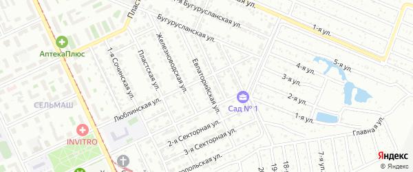 Евпаторийская улица на карте Челябинска с номерами домов