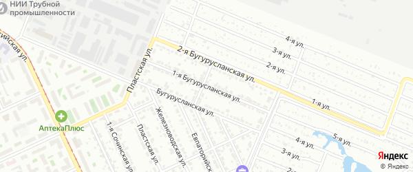 Бугурусланская 1-я улица на карте Челябинска с номерами домов