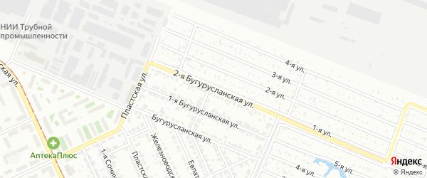 Бугурусланская 2-я улица на карте Челябинска с номерами домов