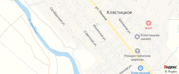 Советская улица на карте Клястицкое села с номерами домов